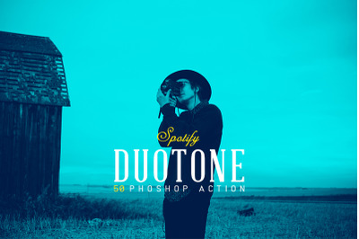 50 Spotify Duotone Photoshop Actions