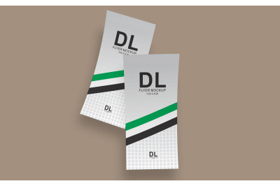 DL Flyer Mockup Double Sided (3.93 x 8.26 Inch)