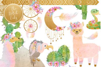 Enchanted Boho Desert Clipart Set