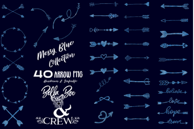 Messy Blue Arrow Collection