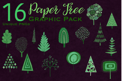 Paper Tree Graphic Pack