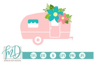 Floral Camper SVG