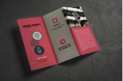 Music Party Brochure template