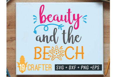 beauty and the beach summer holiday svg cut file