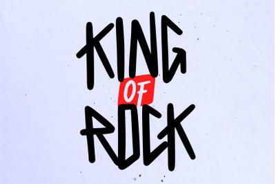 King of Rock Font