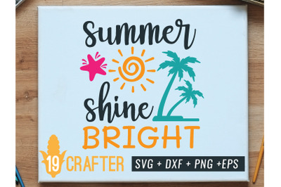 summer sun shine bright svg printable file
