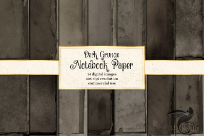 Dark Grunge Notebook Paper