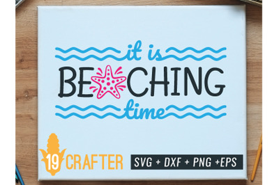 it is beaching time summer holiday svg