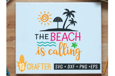 the beach is calling summer svg printable file