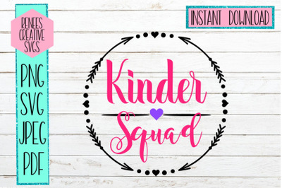 Kinder Squad SVG | Back to school SVG | SVG Cut File