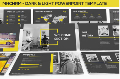 Mnchrm - Dark & Light Powerpoint Template