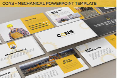 Cons - Mechanical Powerpoint Template