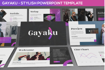 Gayaku - Stylish Powerpoint Template