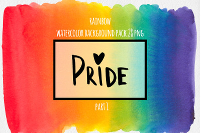 Watercolor rainbow background, LGBT design