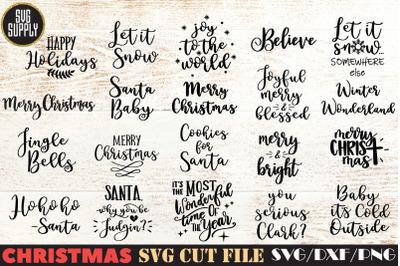 Christmas Quotes Bundle SVG Cut File