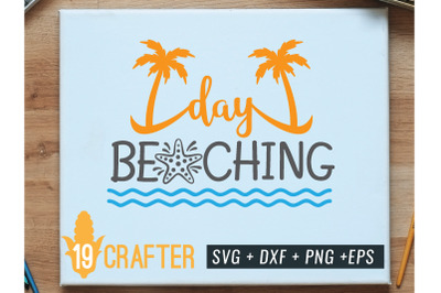 day beaching summer printable svg cut file