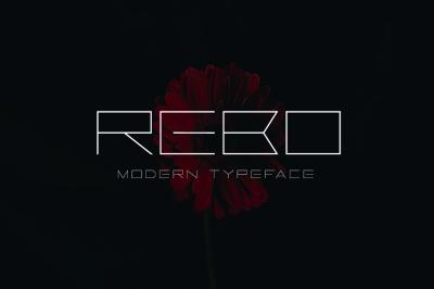 Rebo Typeface