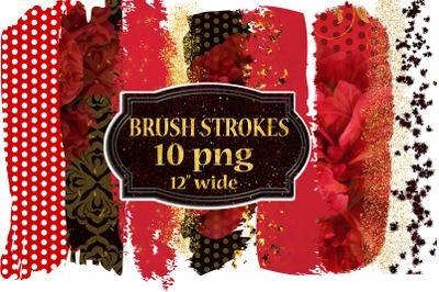 Brush Stroke Clipart, FLORAL BRUSH STROKE, Gold brush stroke