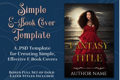 Simple PSD E-Book Cover Template - Bonus Layer Styles