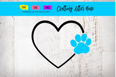 Heart Paw Print SVG Cut Files, Svg Files, Vet PNG Image, Pawprints, Do
