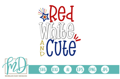 Red White and Cuter SVG