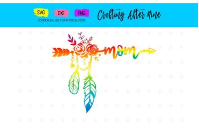 Rainbow Arrow Mom Svg, New Mom SVG, Pregnancy Announcement, Mom, Mommy