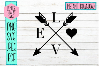 Love arrows with Hearts | Arrows | SVG Cutting File