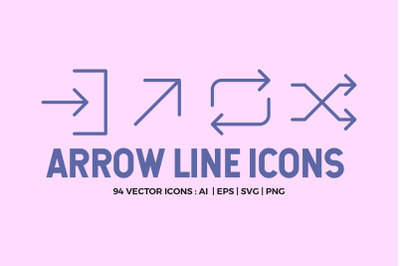 Arrow Line Icons Pack