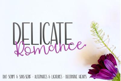 Delicate Romance Font Duo