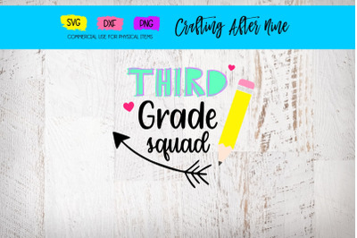 Hello Third Grade Svg, Teacher Svg, School Svg, Back to School
