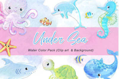 Under sea water color pack