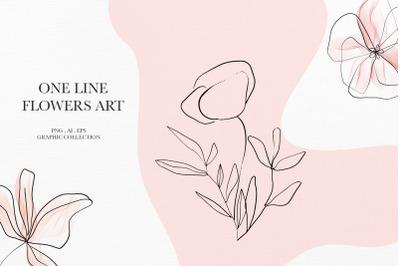 Botanical line art clipart