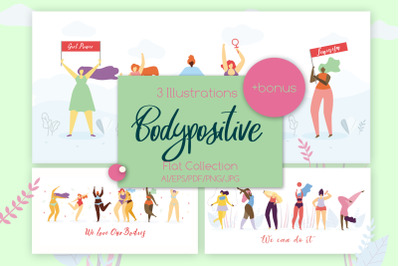 Body Positive Set Illustration