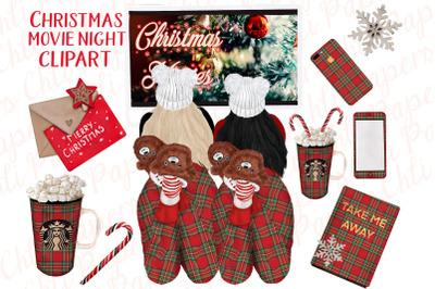 Christmas Girls ,Christmas Movie Night,Planner Stickers
