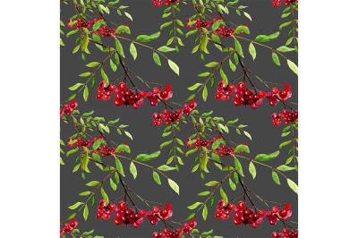 Seamless pattern rowan.