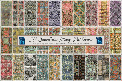 30 Seamless Vintage Tiling Patterns