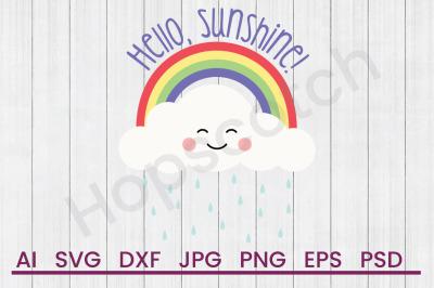 Hello Sunshine - SVG File, DXF File