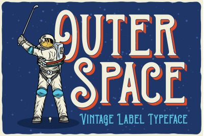 Outer Space Font + BONUS