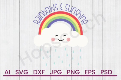 Rainbows & Sunshine - SVG File, DXF File