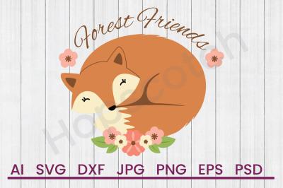 Forest Friends - SVG File, DXF File