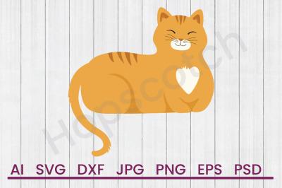 Cat - SVG File, DXF File