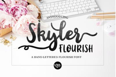 Skyler Flourish Bold Script .OTF Font