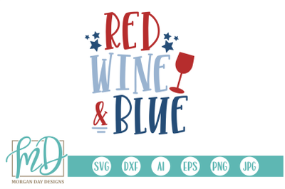 Red Wine and Blue SVG