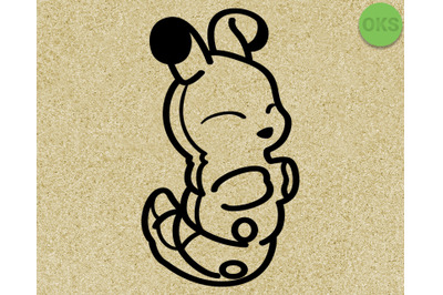 caterpillar SVG cut files, DXF, vector EPS cutting file instant downlo