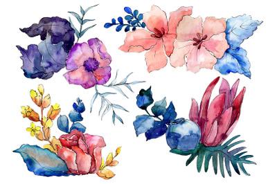 Bouquet Merlin watercolor png