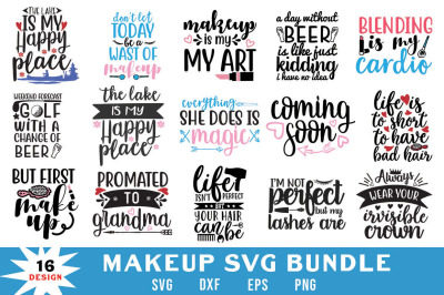Makeup Quotes Svg Bundle