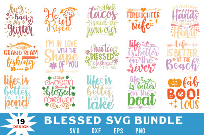 Blessed Quotes Svg Bundle