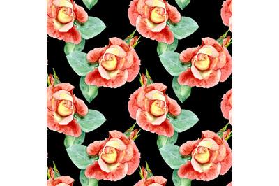 Seamless pattern roses.