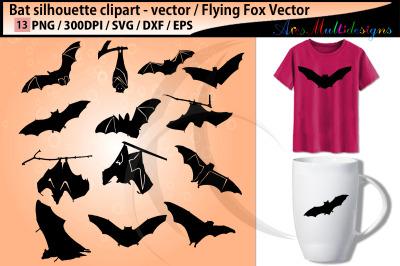 bat silhouettes svg / vector bat bird / SVG
