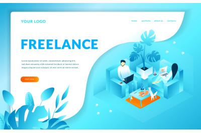 Freelance Isometric Illustration
